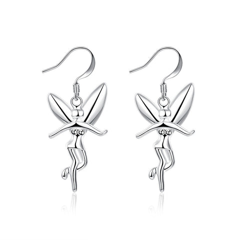 Drop Fairy Earring - 18K White Gold Plated