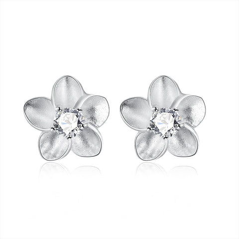 Blossoming Ivory Floral - 18K White Gold Plated