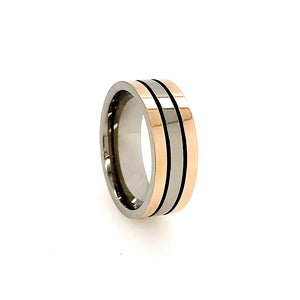 2 Tone Titanium Wedding Band