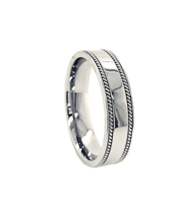 Flat Fancy Wedding Band