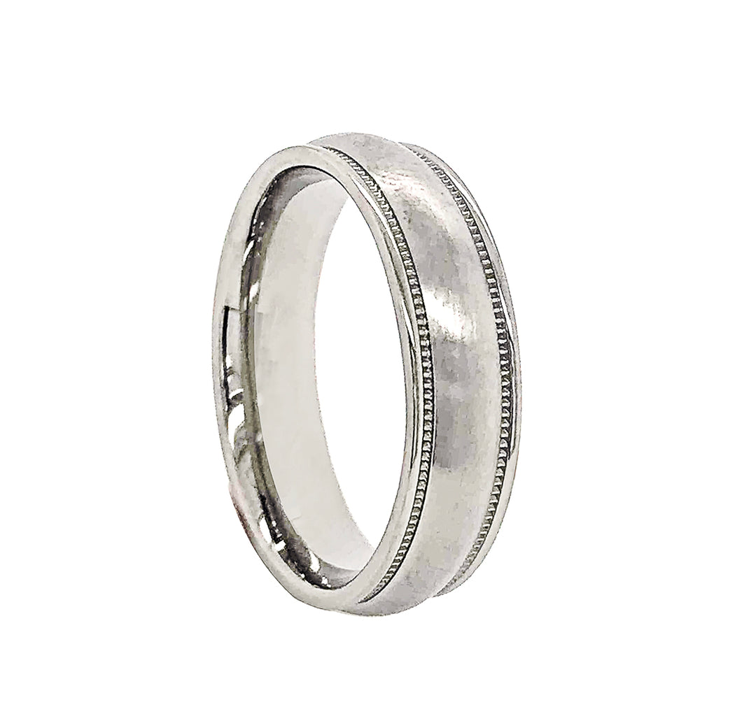 Half Round Fancy Wedding Band