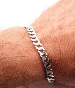 Sterling Silver Gents Curb Bracelet