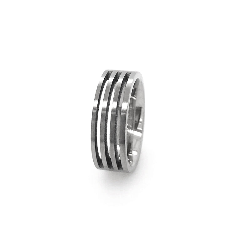 Slotted Titanium Wedding Band