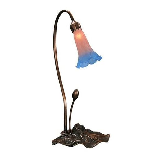 16H Pink/Blue Pond Lily Accent Lamp - NOVELTY LAMPS AND ACCESSORIES