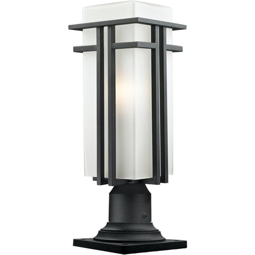 Abbey Black Outdoor Pier Mounted Fixture - Outdoor Pier Mounted Fixture