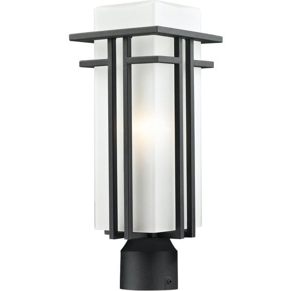 Abbey Black Outdoor Post Mount Fixture - Outdoor Post Mount Fixture