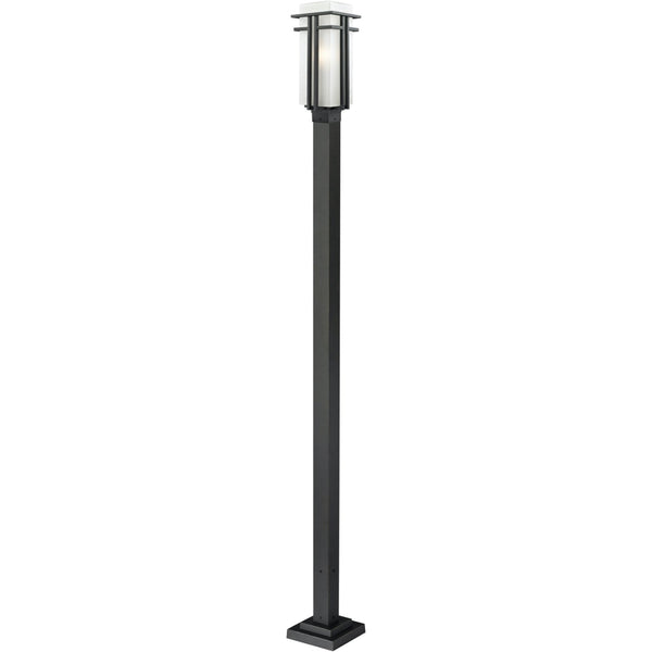 Abbey Black Outdoor Post Mounted Fixture - Outdoor Post Mounted Fixture