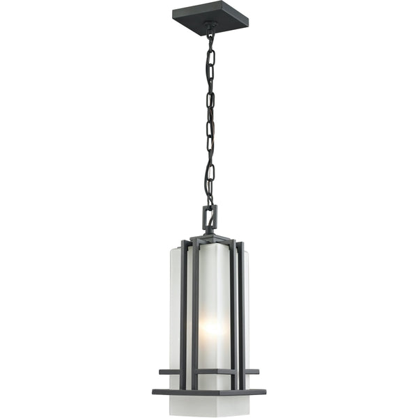 Abbey Rubbed Bronze Outdoor Chain Mount Ceiling Fixture - Outdoor Chain Mount Ceiling Fixture