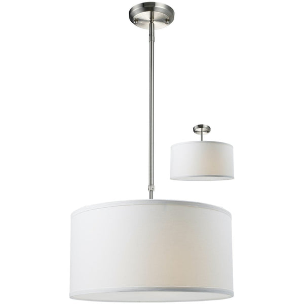 Albion Brushed Nickel Pendant - Pendants