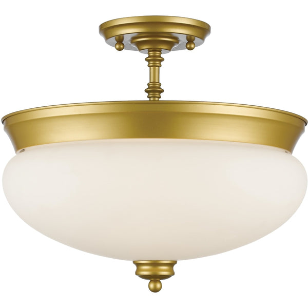 Amon Satin Gold Semi-Flushmount - Semi-Flushmounts