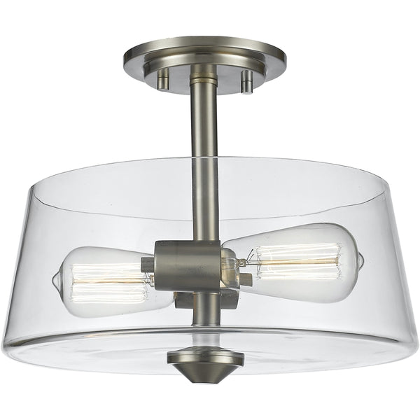 Annora Brushed Nickel Semi-Flushmount - Semi-Flushmounts