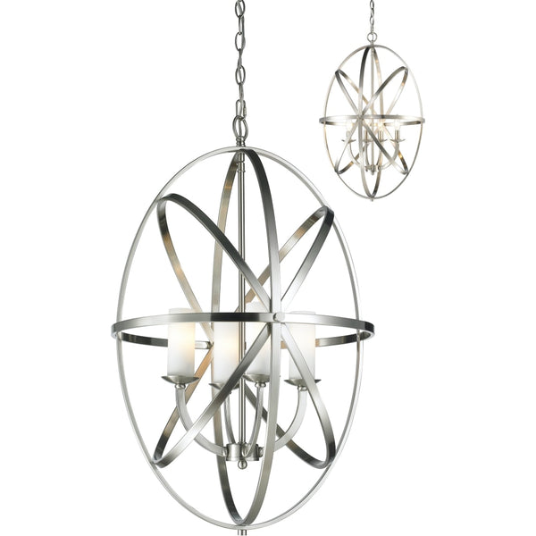 Aranya Brushed Nickel Pendant - Pendants