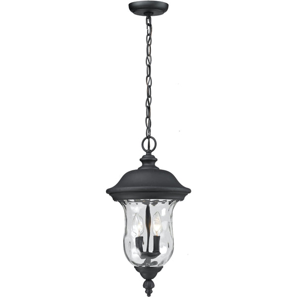 Armstrong Black Outdoor Chain Mount Ceiling Fixture - Outdoor Chain Mount Ceiling Fixture