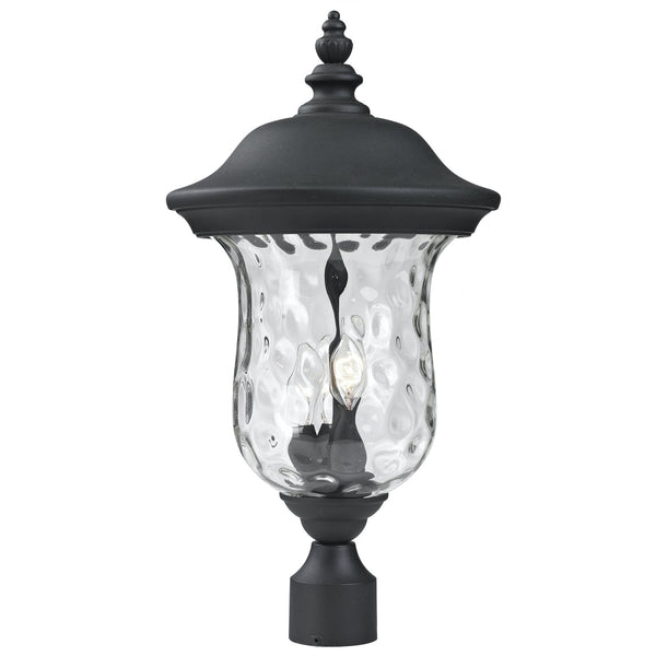 Armstrong Black Outdoor Post Mount Fixture - Outdoor Post Mount Fixture