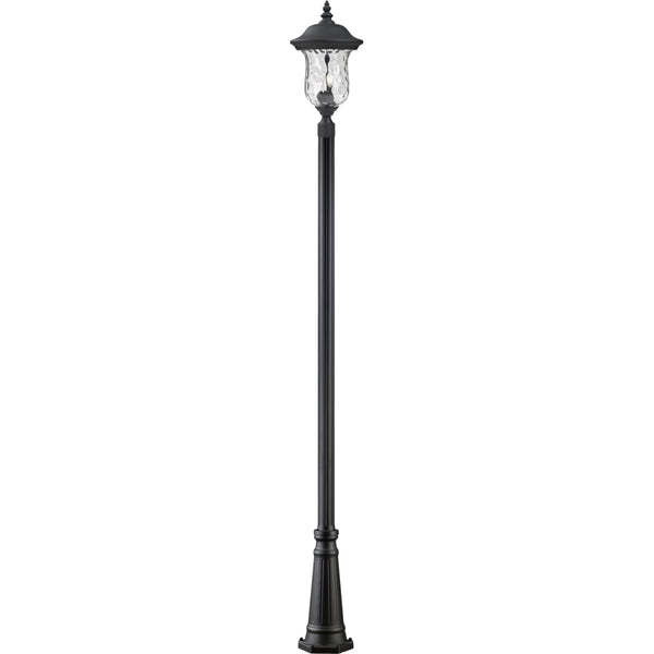Armstrong Black Outdoor Post Mounted Fixture - Outdoor Post Mounted Fixture