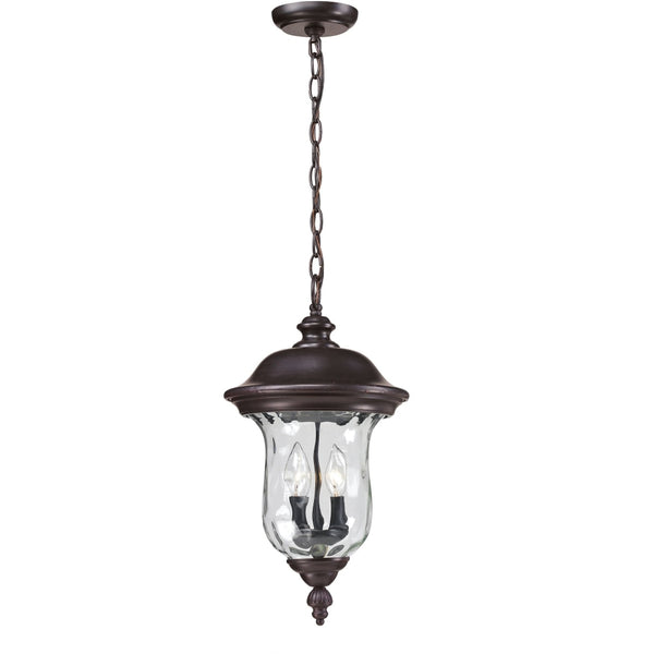 Armstrong Bronze Outdoor Chain Mount Ceiling Fixture - Outdoor Chain Mount Ceiling Fixture