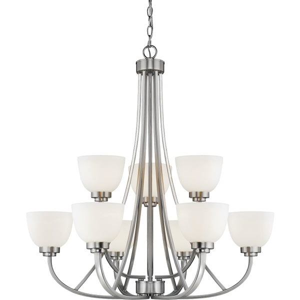 Ashton Brushed Nickel Chandelier - Chandeliers