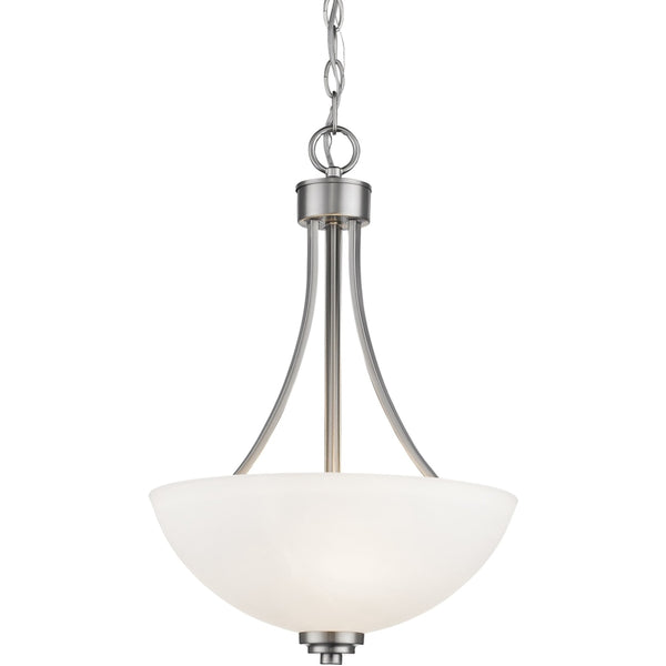 Ashton Brushed Nickel Pendant - Pendants