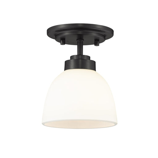 Ashton Matte Black 1 Light Flushmount - Flushmounts