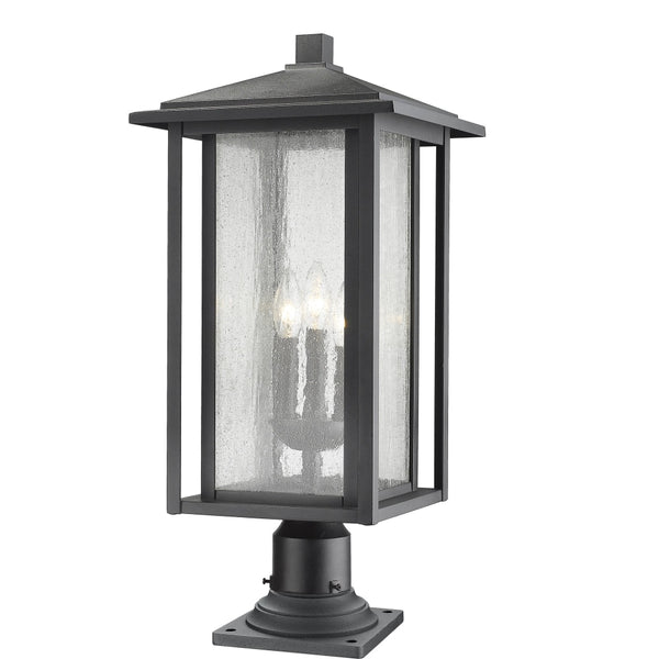 Aspen Black Outdoor Pier Mounted Fixture - Outdoor Pier Mounted Fixture