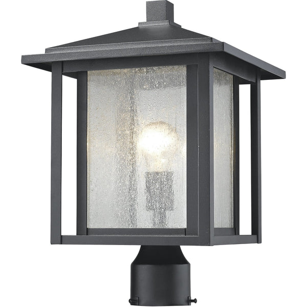 Aspen Black Outdoor Post Mount Fixture - Outdoor Post Mount Fixture