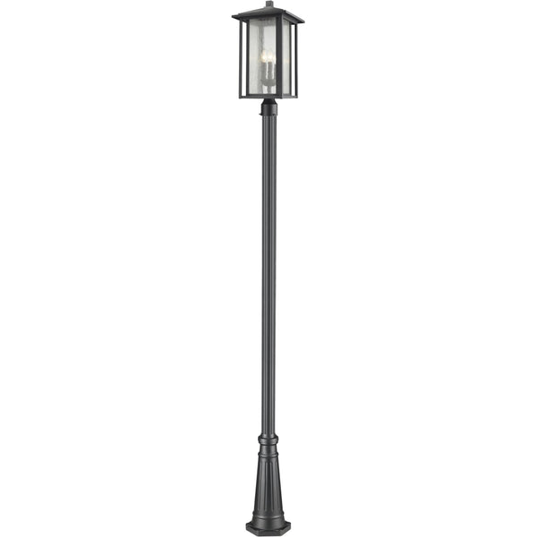 Aspen Black Outdoor Post Mounted Fixture - Outdoor Post Mounted Fixture
