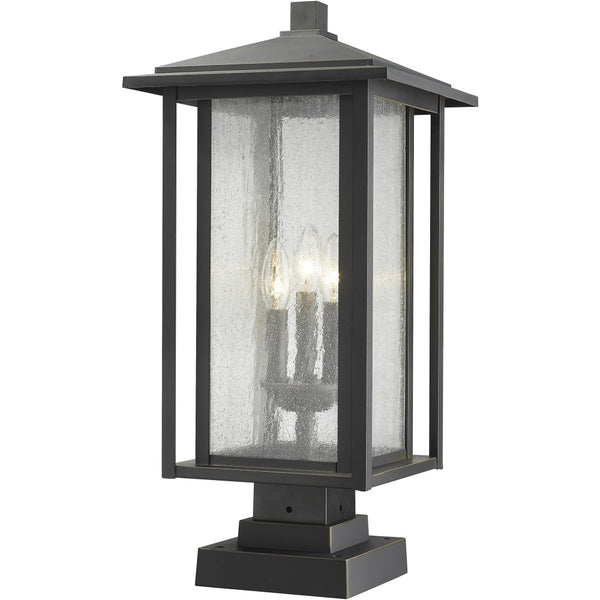 Aspen Oil Rubbed Bronze Outdoor Pier Mounted Fixture - Outdoor Pier Mounted Fixture
