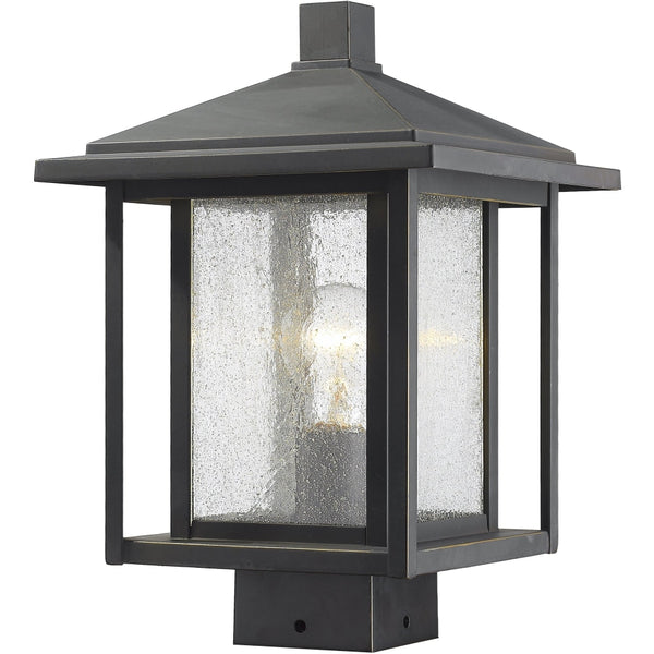 Aspen Oil Rubbed Bronze Outdoor Post Mount Fixture - Outdoor Post Mount Fixture