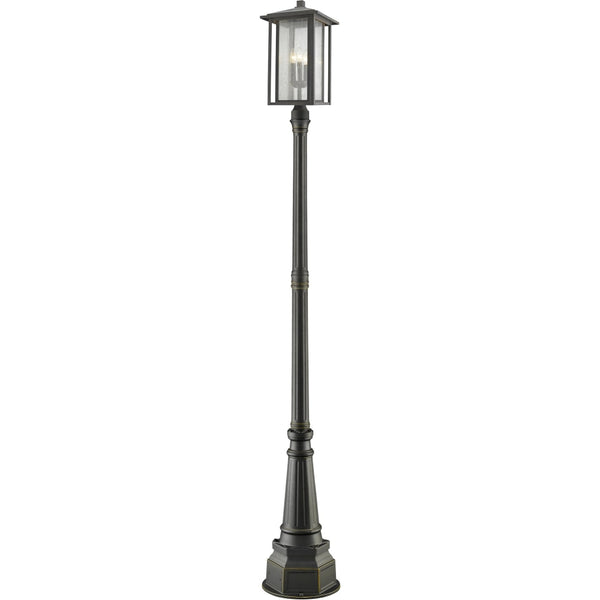 Aspen Oil Rubbed Bronze Outdoor Post Mounted Fixture - Outdoor Post Mounted Fixture
