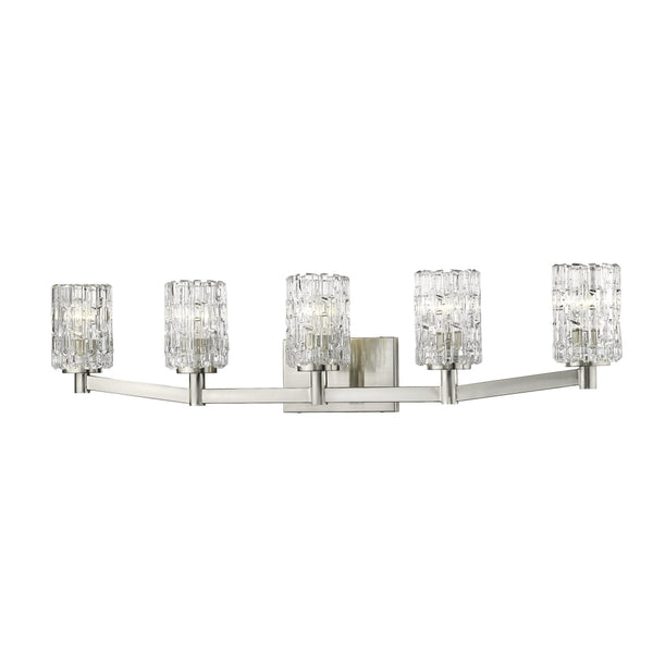 Aubrey Brushed Nickel 5 Light Vanity - Bath & Vanity