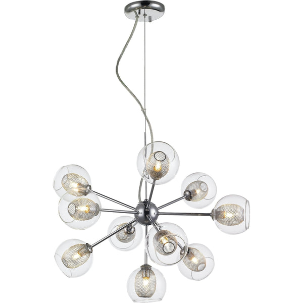 Auge Chrome Chandelier - Chandeliers
