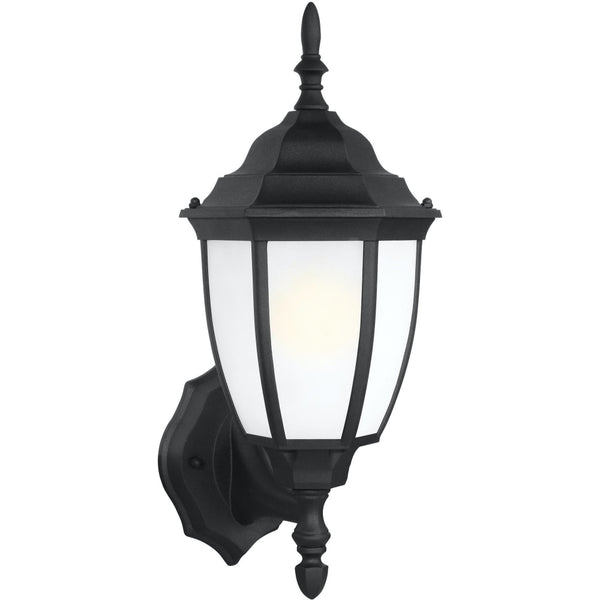 Bakersville Black LED Outdoor Wall Lantern - Outdoor Wall Sconce