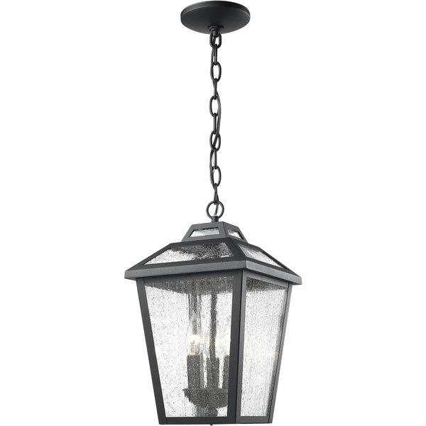 Bayland Black Outdoor Chain Mount Ceiling Fixture - Outdoor Chain Mount Ceiling Fixture
