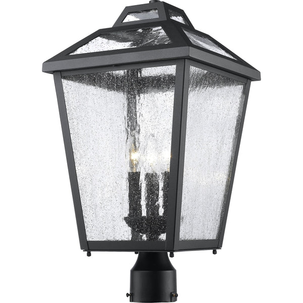 Bayland Black Outdoor Post Mount Fixture - Outdoor Post Mount Fixture