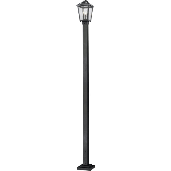 Bayland Black Outdoor Post Mounted Fixture - Outdoor Post Mounted Fixture
