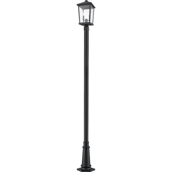 Beacon Black Outdoor Post Mounted Fixture - Outdoor Post Mounted Fixture