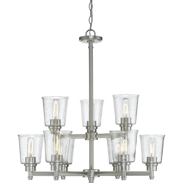 Bohin Brushed Nickel Chandelier - Chandeliers