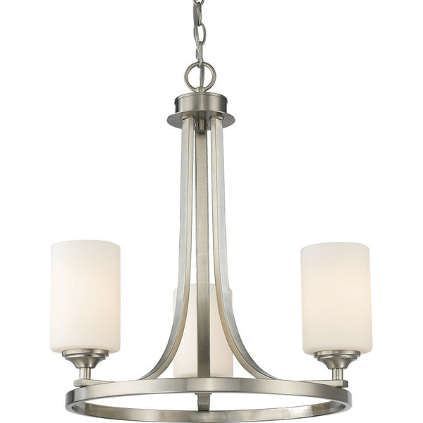 Bordeaux Brushed Nickel Chandelier - Chandeliers