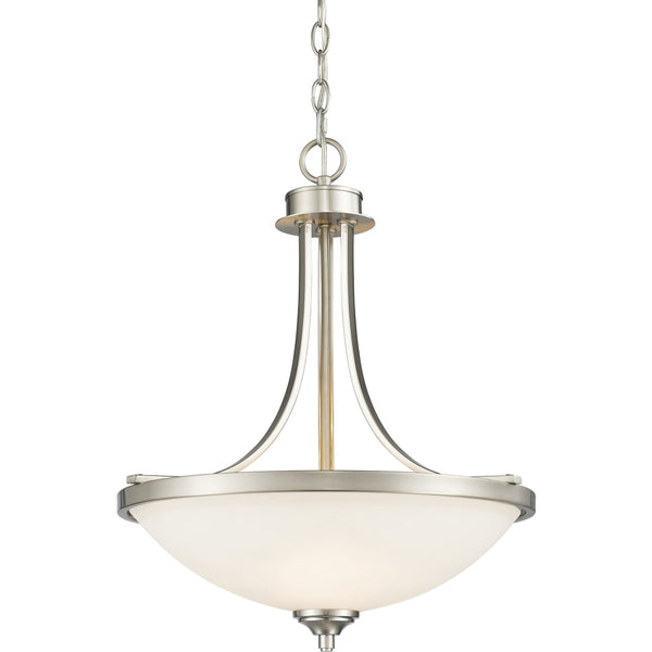 Bordeaux Brushed Nickel Pendant - Pendants
