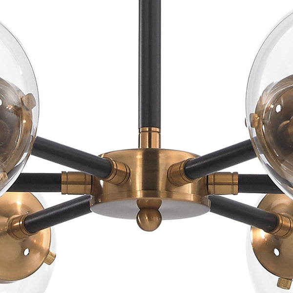 Boudreaux Antique Gold Matte Black Chandelier - Chandeliers