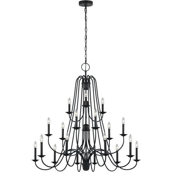 Boughton Antique Forged Iron Chandelier - Chandeliers