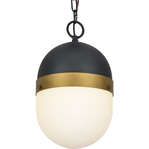 Brian Patrick Flynn for Crystorama Capsule Outdoor 1 Light Outdoor Matte Black Textured Gold Pendant - Outdoor Pendant