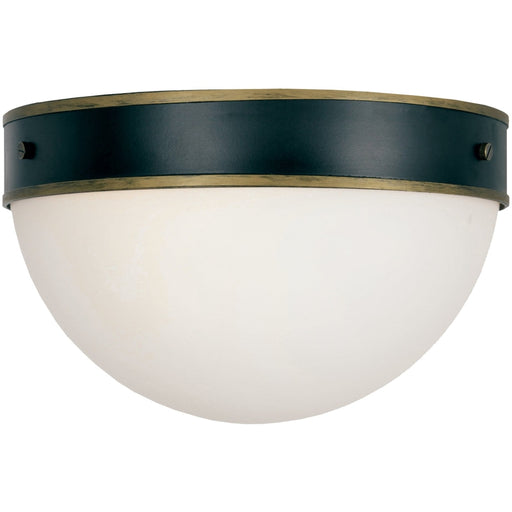 Brian Patrick Flynn for Crystorama Capsule Outdoor 2 Light Matte Black Textured Gold Ceiling Mount - Outdoor Ceiling Mount