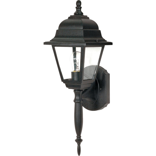 Briton Textured Black Outdoor Wall Lantern - Outdoor Wall Lantern