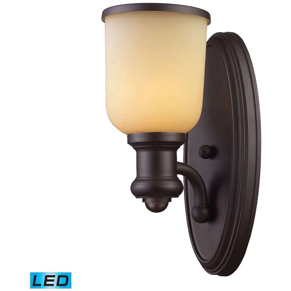 Brooksdale Oiled Bronze LED Wall Sconce - Wall Sconce