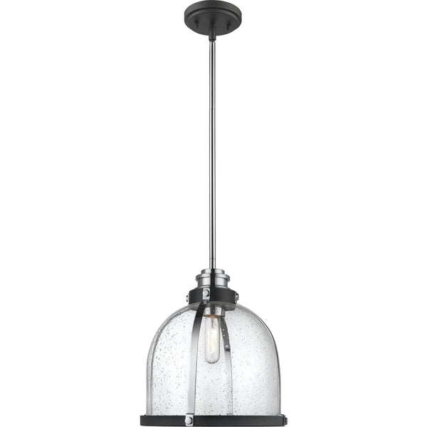 Burren Matte Black Chrome Pendant - Pendants