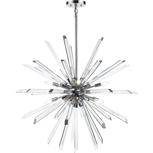Burst Chrome Chandelier - Chandeliers