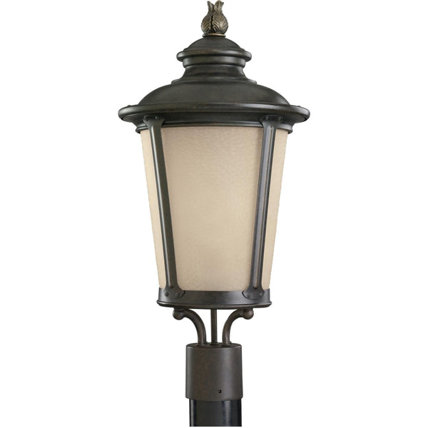 Cape May Burled Iron LED Outdoor Post Lantern - Outdoor Post Lantern