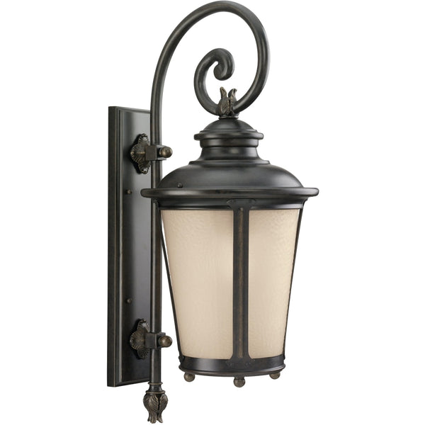 Cape May Burled Iron Outdoor Wall Lantern - Outdoor Wall Sconce