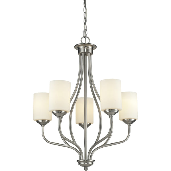 Cardinal Brushed Nickel Chandelier - Chandeliers